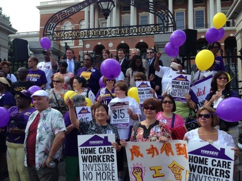 PCA and home care worker victory celebration at State House